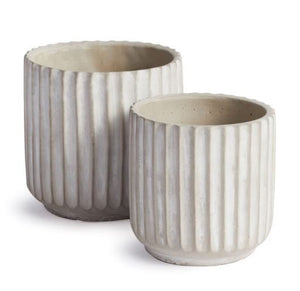 White Chandler Planter w/ Drainage