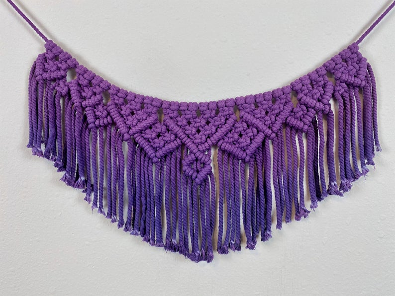 Purple Macramé Wall Hanging