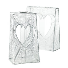 Load image into Gallery viewer, White Heart Stand Vase Collection - Valentine's Day