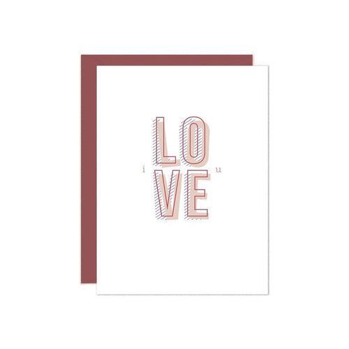 love card, stylish, stationery, chicago, zuzus petals, gift, boutique, shop, bridgeport, greeting cards, for him, for her, modern, elegant, valentine's day, i love you card