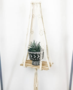 Natural Macramé Hanging Shelf