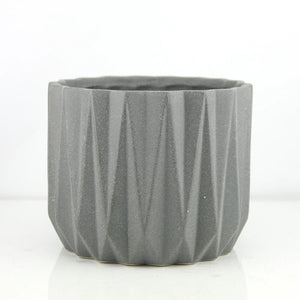 Grit Angles Grey Planter/Vase