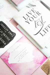 Hell Yes - F No, Inspirational Notebook - Blush Notebook