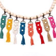 Load image into Gallery viewer, Handbag/Keychain Tassel - Aloha (Teal)