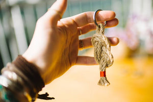 Jute Keychain- Assorted Colors