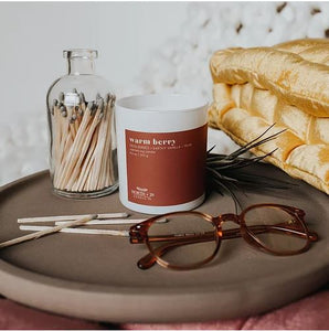 Warm berry candle North+ 29. Zuzu's Petals Chicago florist boutique exclusively sold. Perfect gift for her.