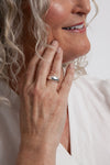 haven silver dome ring on model