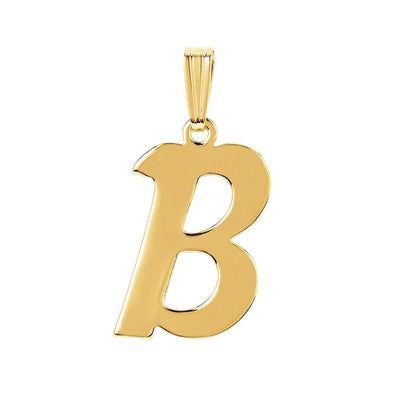 gothic initial letter B necklace charm