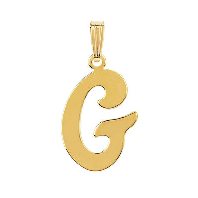 gothic initial letter G necklace charm