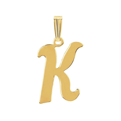 gothic initial letter K necklace charm