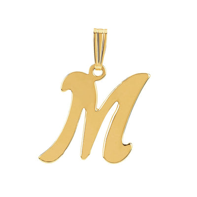 gothic initial letter M necklace charm