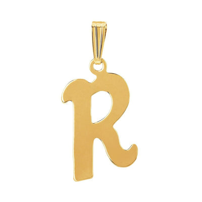 gothic initial letter R necklace charm