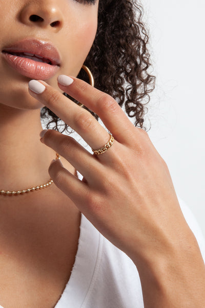 gold chain link style rowen ring
