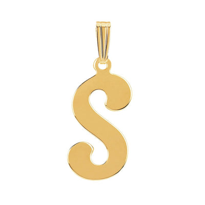 gothic initial letter S necklace charm