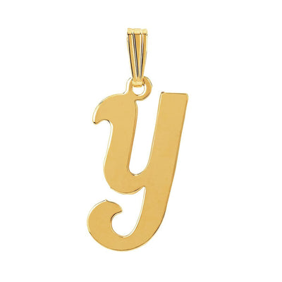 gothic initial letter Y necklace charm