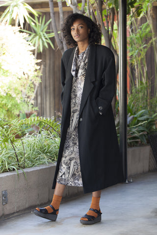 Rounded Shoulder Overcoat