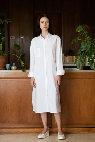 High Slit Shirt Dress