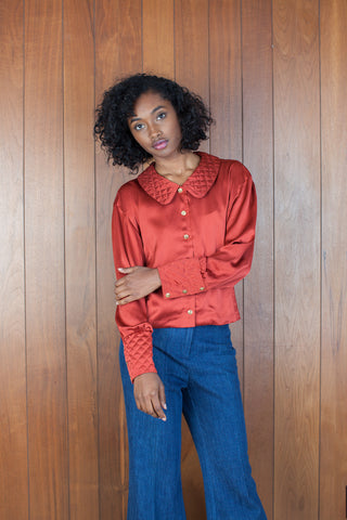 Quilted Sienna Top