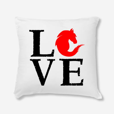 Coussin Love cheval par T-Pop