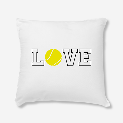 Coussin Love tennis par T-Pop