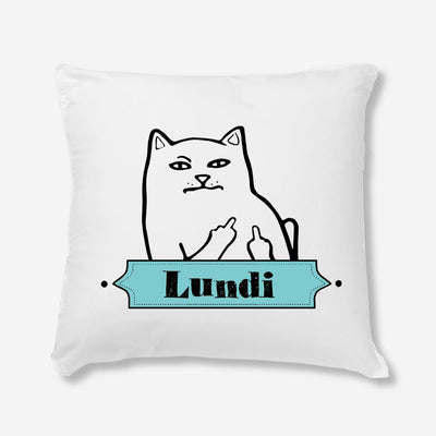 Coussin Lundi Chat par T-Pop