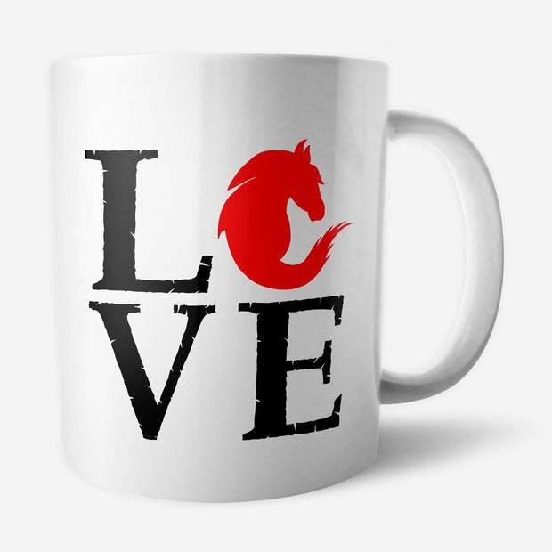 Mug Love cheval par T-Pop