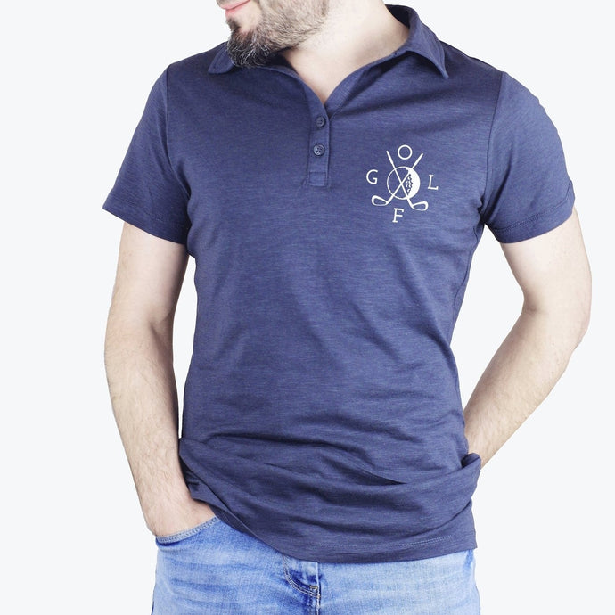 Polo Golf - Velours - Bleu marine - TPop