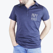 Polo Papy poule - Velours par T-Pop