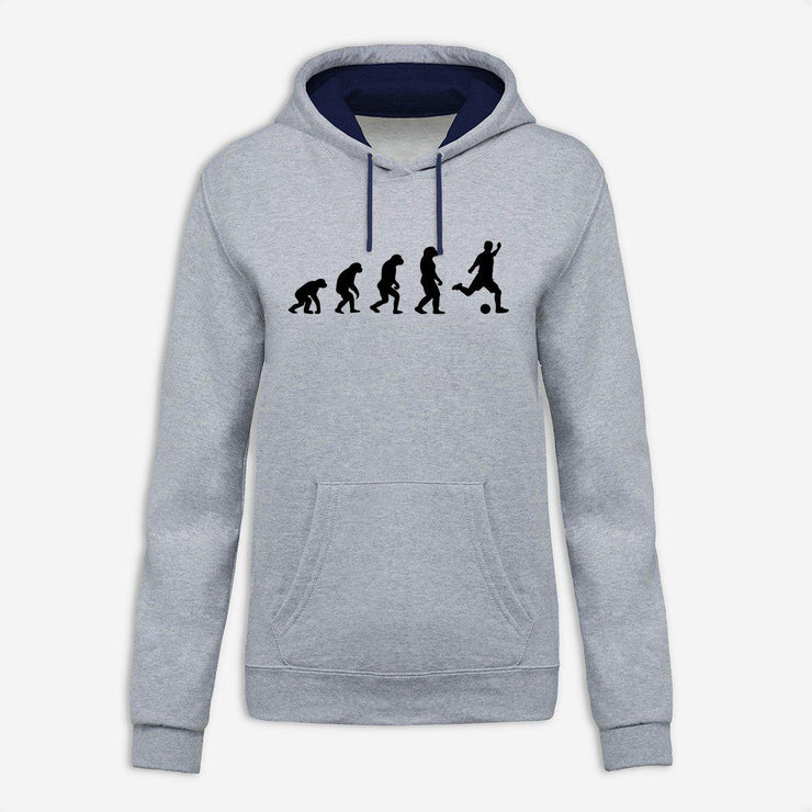 Sweat à capuche Evolution football par T-Pop