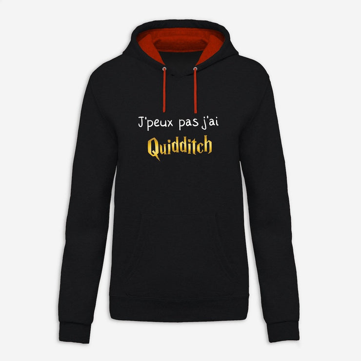 Sweat à capuche J'peux pas j'ai quidditch par T-Pop