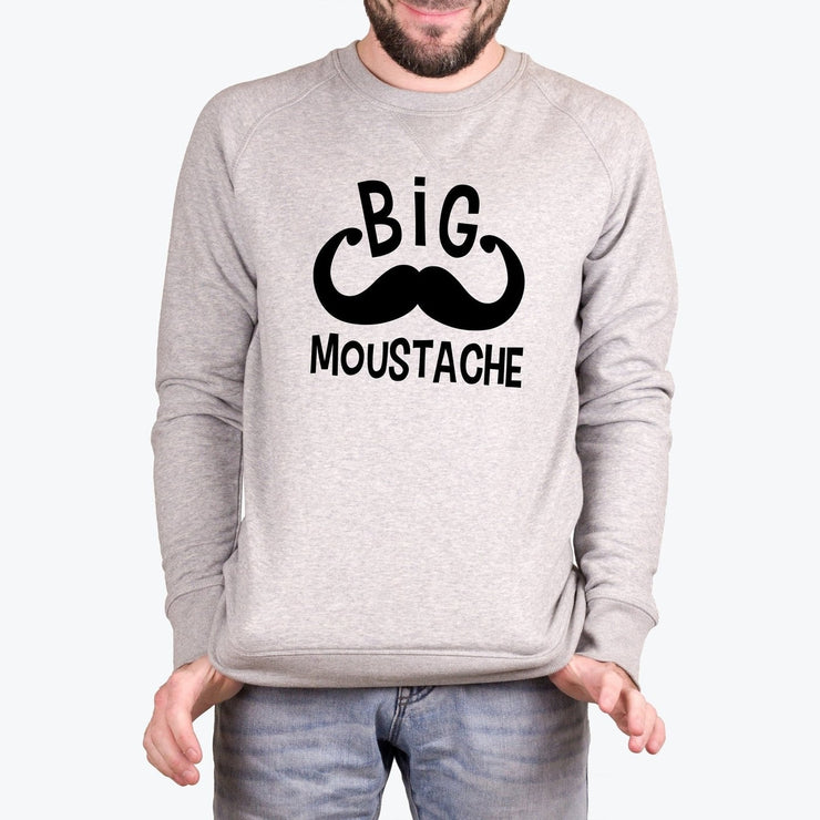 Sweat Big moustache - Homme par T-Pop