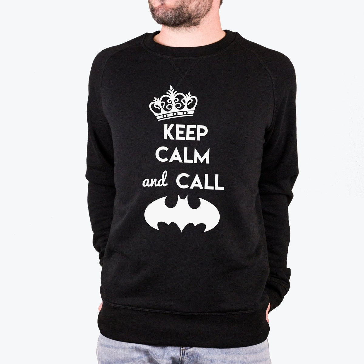 Sweat Keep calm and call Batman - Homme - TPop