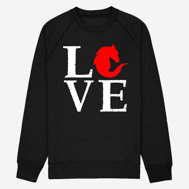 Sweat Love cheval - Femme par T-Pop