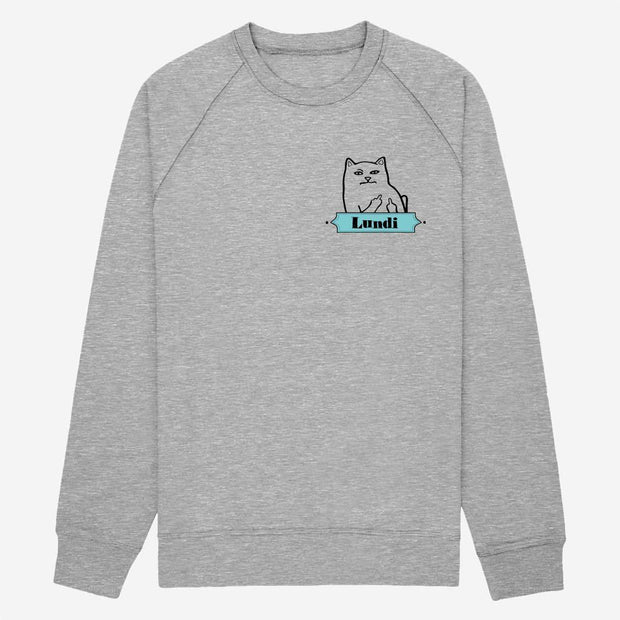 Sweat Lundi Chat - Homme par T-Pop