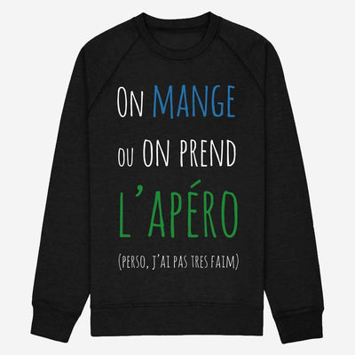 Sweat On mange ou on prend l'apéro - Homme par T-Pop