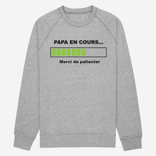 Sweat Papa en cours - Homme par T-Pop