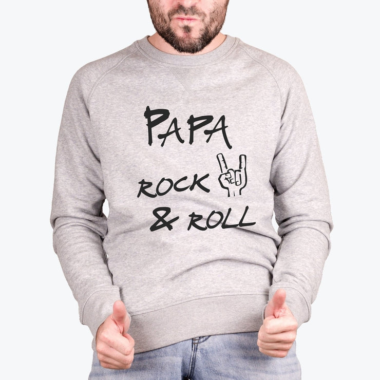Sweat Papa rock & roll - Homme par T-Pop
