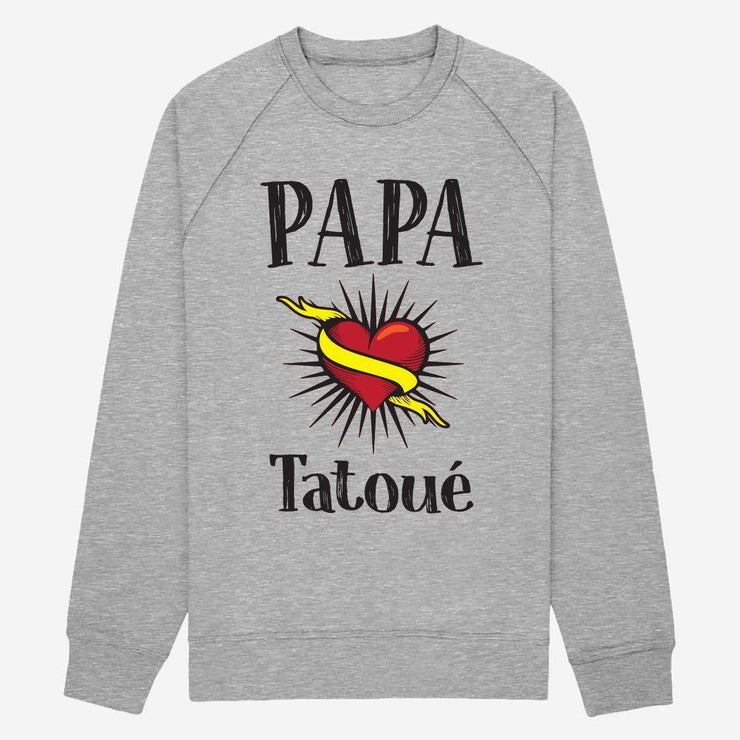 Sweat Papa tatoué - Homme par T-Pop