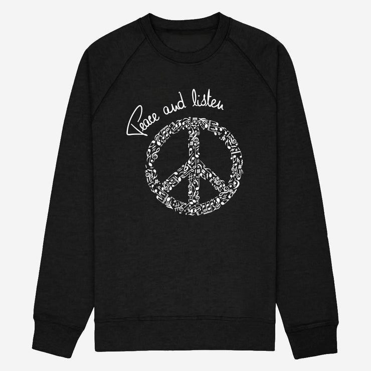 Sweat Peace and listen - Homme - Sweat-shirt homme - TPop