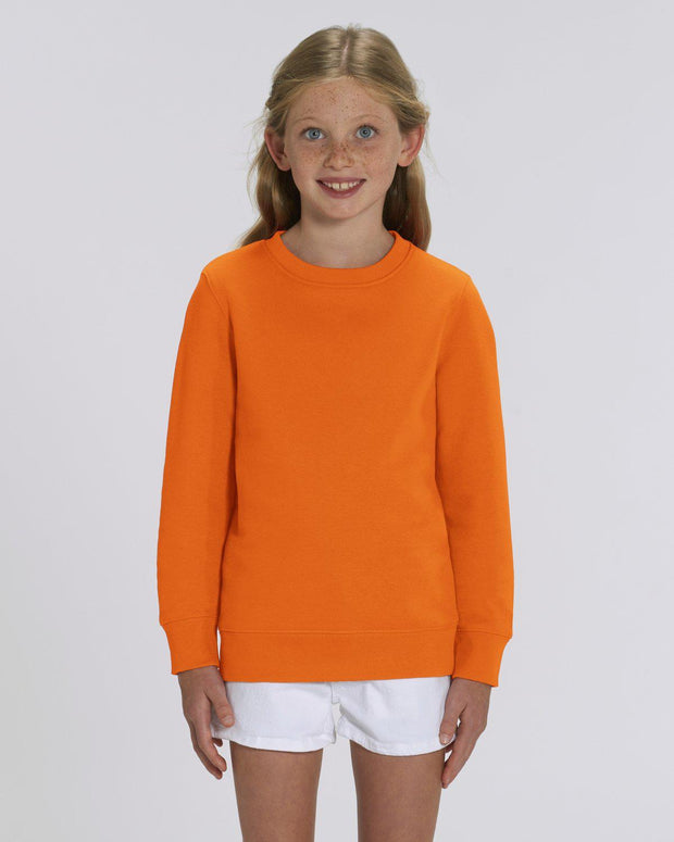 Sweat-shirt personnalisé - enfant - coton bio - Stanley/Stella - Orange par T-Pop