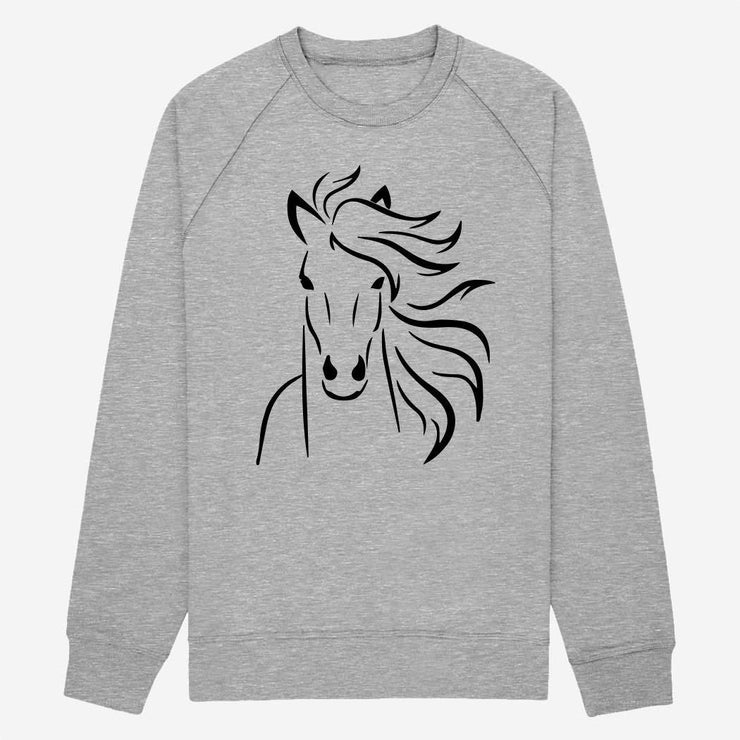 Sweat Tête de cheval - Femme par T-Pop
