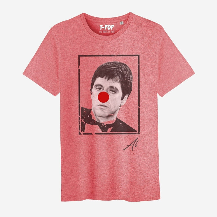 T-shirt Al - Nez rouge velours - Homme par T-Pop