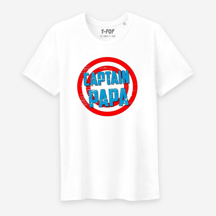 T-shirt Captain papa - Homme par T-Pop