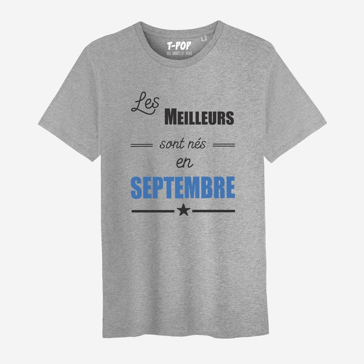 T-shirt En septembre - Homme par T-Pop