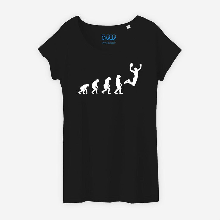 T-shirt Evolution basket - Femme par T-Pop
