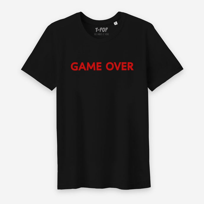 T-Shirt Game Over - Homme S Noir