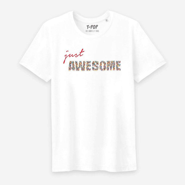 T-shirt Just awesome - Homme par T-Pop