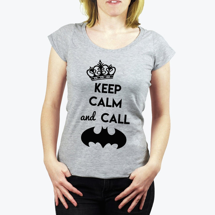 T-shirt Keep calm and call Batman - Femme par T-Pop