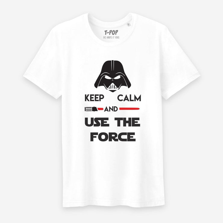 T-shirt Keep calm and Use the force - Homme par T-Pop
