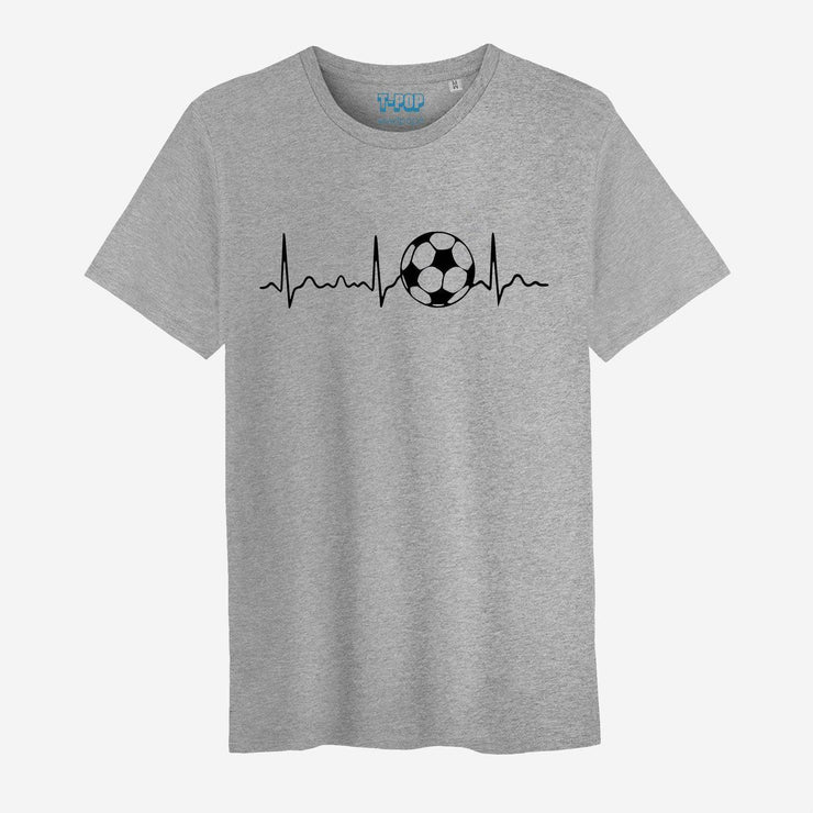 T-shirt Ligne de coeur football - Homme par T-Pop